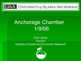 ISER - UAA Institute of Social and Economic Research