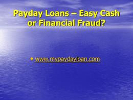 Payday Loan Presentation