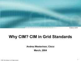CIM - Open Grid Forum