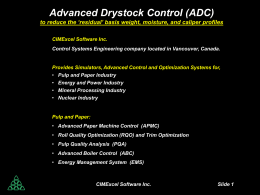 Advanced Drystock Control