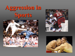 Aggression in Sports What is the Role of