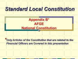 Standard Local Constitution