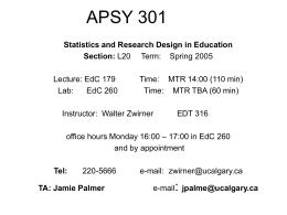 APSY 301sp05