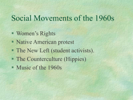 Social Movements of the 1960s