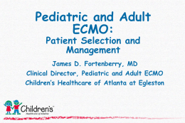 Pediatric and Adult ECMO Talk