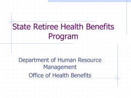 State Retiree Health Benefits Program