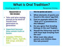 What is Oral Tradition? Greyling pg.9-15