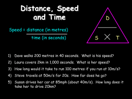 speed time graphs revision slides