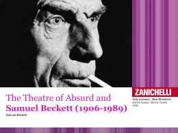 The Theatre of the Absurd and Samuel Beckett