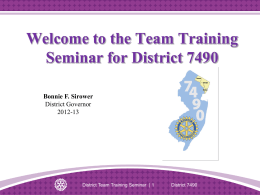 District Team Training Seminar Leaders` Guide - Slides [247-EN]