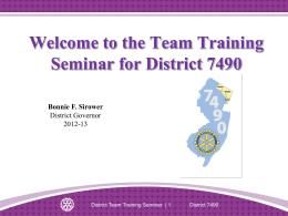District Team Training Seminar Leaders` Guide - Slides [247-EN]