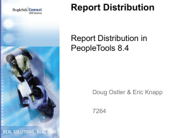 Report Distribution in PeopleTools 8.4
