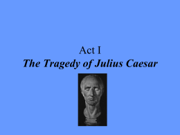 Scene-by-Scene Summaries of The Tragedy of Julius Caesar