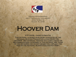 Hoover Dam - Engineering Technology Pathways