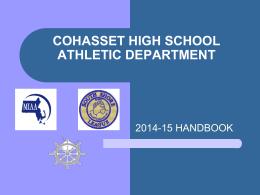 CHS Athletic Handbook 2014-15