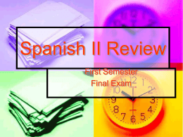 Spanish I Review