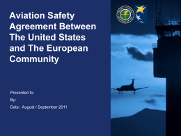 US – EU Safety Agreement presentation