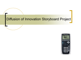 Diffusion of Innovation Storyboard Project