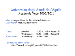 Introductory elements - University of L`Aquila