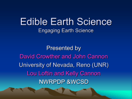 Edible Earth Science - University of Nevada, Reno