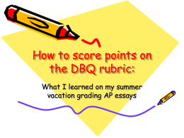 How to score points on the DBQ rubric
