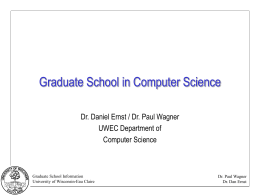 Slide 1 - Computer Science - University of Wisconsin