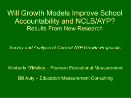 Will Growth Models Improve School Accountability