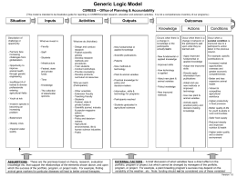 Logic Models for Research - Oregon State University Extension