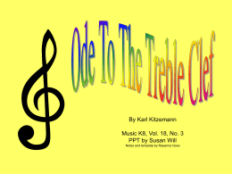 Ode To The Treble Clef - Bulletin Boards for the Music Classroom