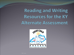 ResourcesfortheKYAlternateAssessment2011