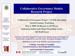 Collaborative Governance Models Research Project