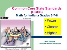 Common Core State Standards (CCSS) for