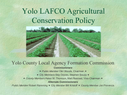 Yolo Agricultural Policy
