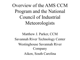 Overview of the AMS CCM Program and the National Council of