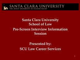Slide 1 - Santa Clara Law