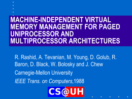 MACHINE-INDEPENDENT VIRTUAL MEMORY MANAGEMENT