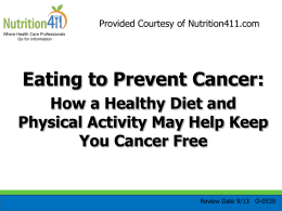 Food Components That May Prevent Cancer