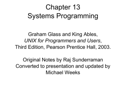 Chapter 13 Systems Programming