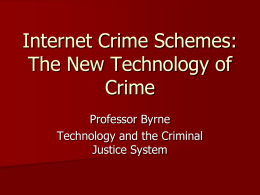 Internet Crime Schemes - Faculty Server Contact