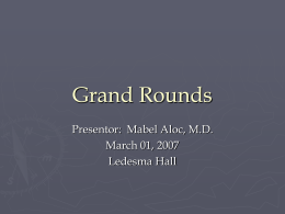 PowerPoint Presentation - Internal Medicine Grand Rounds