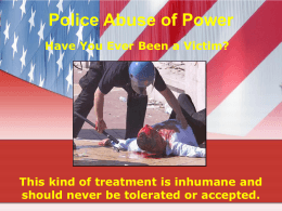 Police Abuse of Power