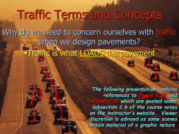 Traffic Terms and Concepts
