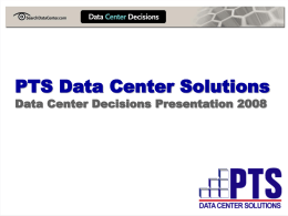Capacity Planning and Modeling Tools for Data Center Design and