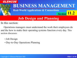 Slide 1 of 10 BUSINESS MANAGEMENT Real-World