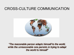 cross-culture communication management