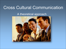 Cross Cultural Communication W2L1