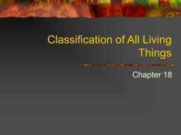 Classification of All Living Things