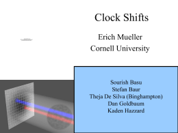 Clock Shifts - Erich Mueller