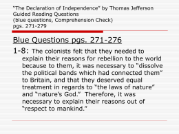 """The Declaration of Independence"" by Thomas Jefferson Guided"