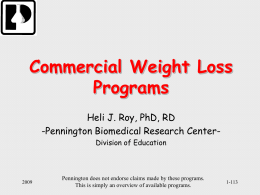 Commercial Weight Loss Programs